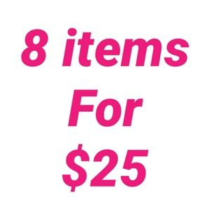 8 for $25 ends tomorrow!